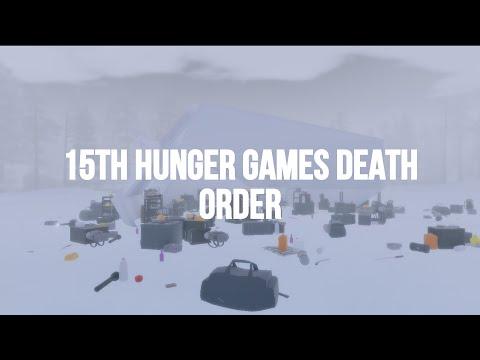 15th Hunger Games Death Order