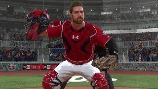 """""""Nats vs Braves"""" MLB 18 Road to the Show - Matt Myer Nationals Catcher EP 18   MLB 18 RTTS"""