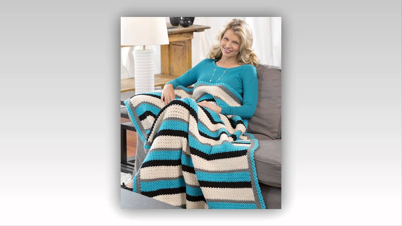crochet pattern for sofa arm covers - YouTube