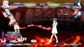 Nitroplus Blasterz: Heroines Infinite Duel (Arcade, PS3, PS4) - Versus Gameplay