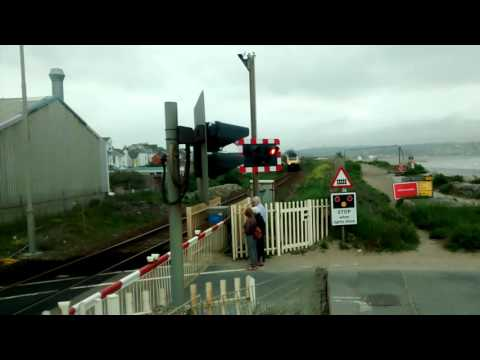 GWR Class 43 HST passing Long Rock Level Crossing