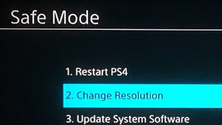 PS4 How to Change Resolution With SAFE MODE