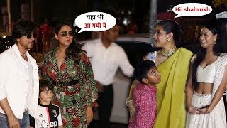 Shahrukh Khan Family Arriving with Kajol Family at Aishwarya Rai Home Party   Aradhya Birthday 2019