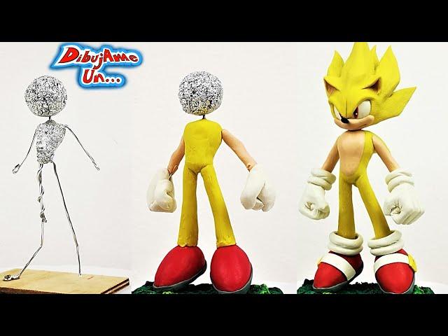 Como hacer a SUPER SONIC Escultura Plastilina   How to Super Sonic DIY Clay Tutorial   DibujAme Un - DibujAme Un...