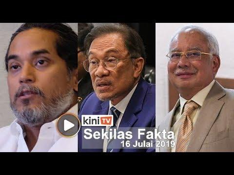 Polis siasat aduan KJ, Najib rasa 'terbela', Nazri sokong Anwar
