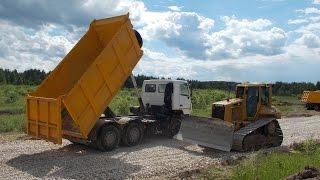 cat d6n xl and maz 6501 dump truck part 2