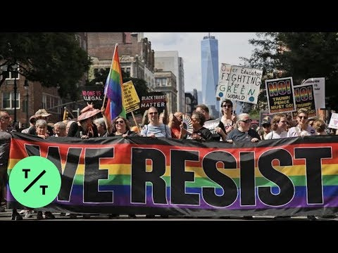 Thousands march in the streets of New York for WorldPride