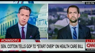 Tom Cotton: Medicaid Shouldn't Apply To 'Able-Bodied' Poor People