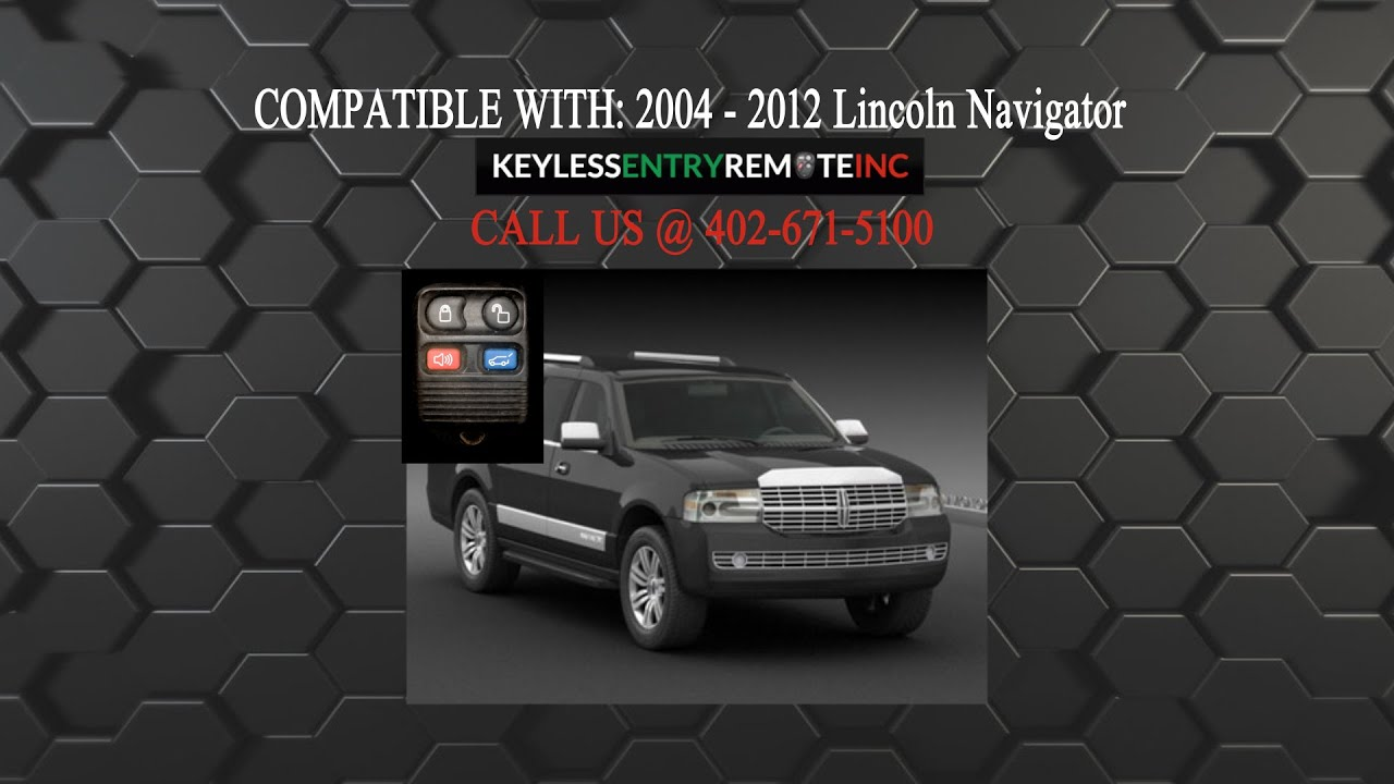 How To Replace Lincoln Navigator Key Fob Battery 2004 2012 Youtube