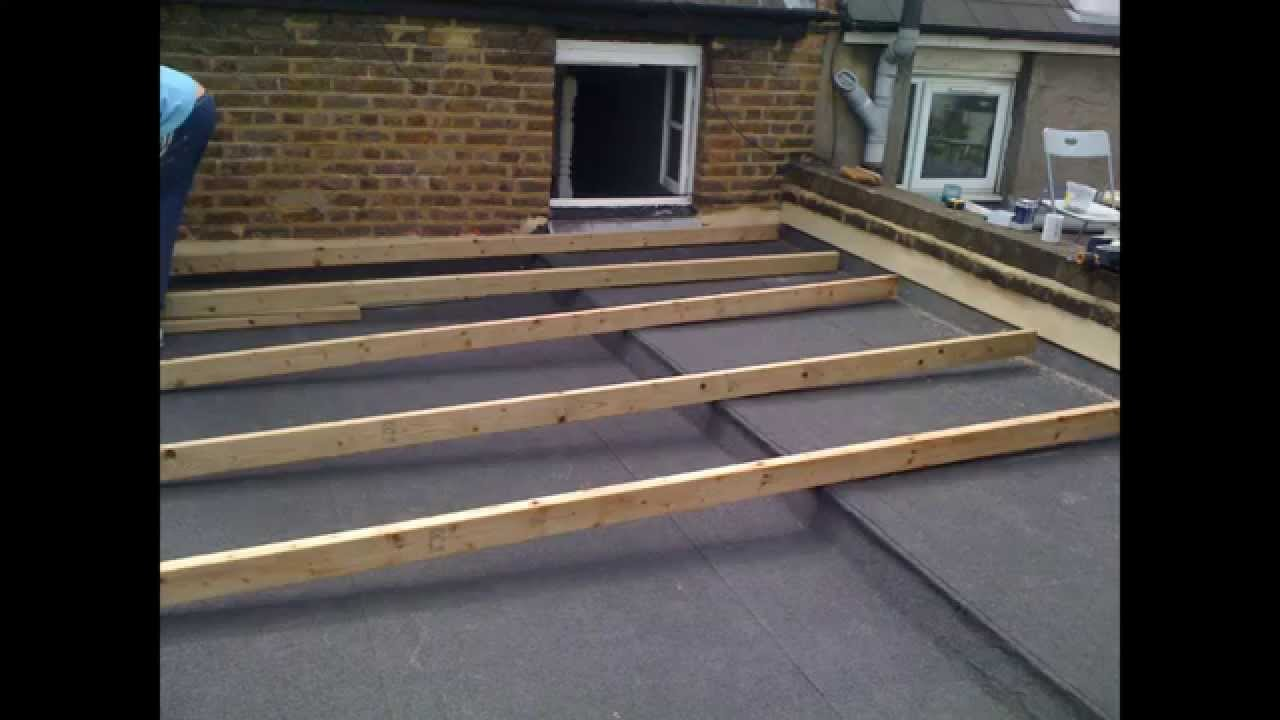 How To Replace A Flat Roof ...roof Terrace Designed And Built By Local  Roofing Experts Ltd   YouTube