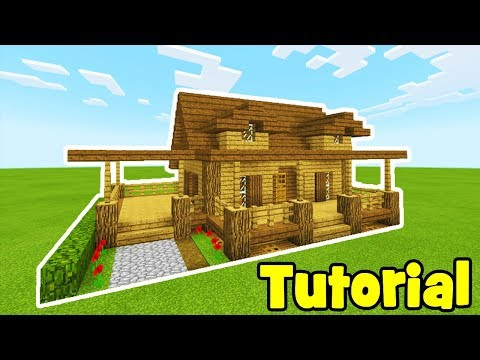 Minecraft Tutorial: How To Make A Wooden House #2