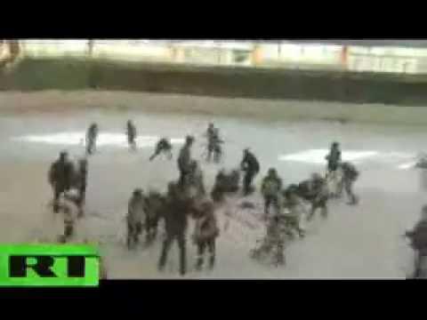 Kids mass hockey brawl: Under-10 teams big fight