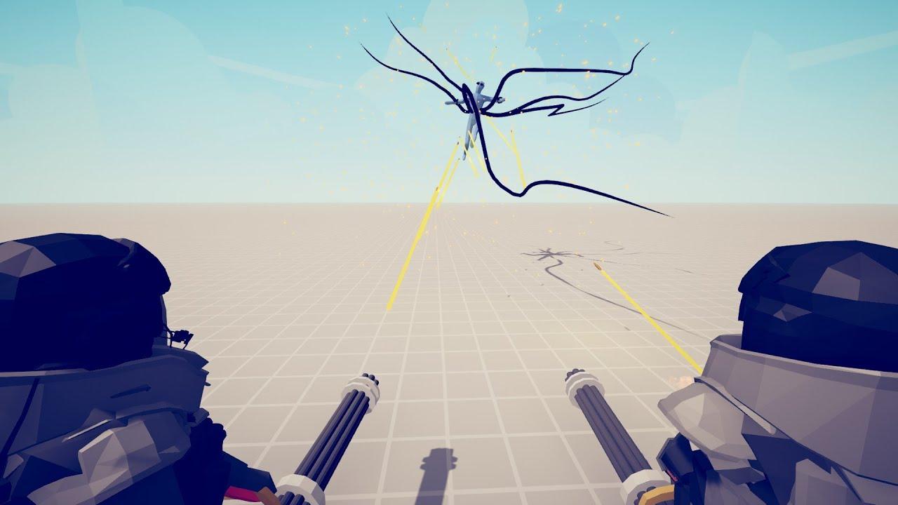 MINIGUN TRIO vs MODDED UNITS Totally Accurate Battle Simulator TABS