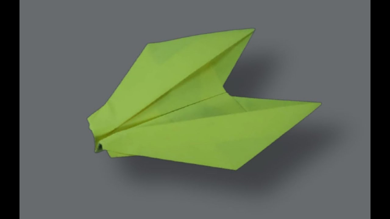 AMAZING Paper Plane - How To Make Easy Paper Jet That Flies Far - Origami Paper
