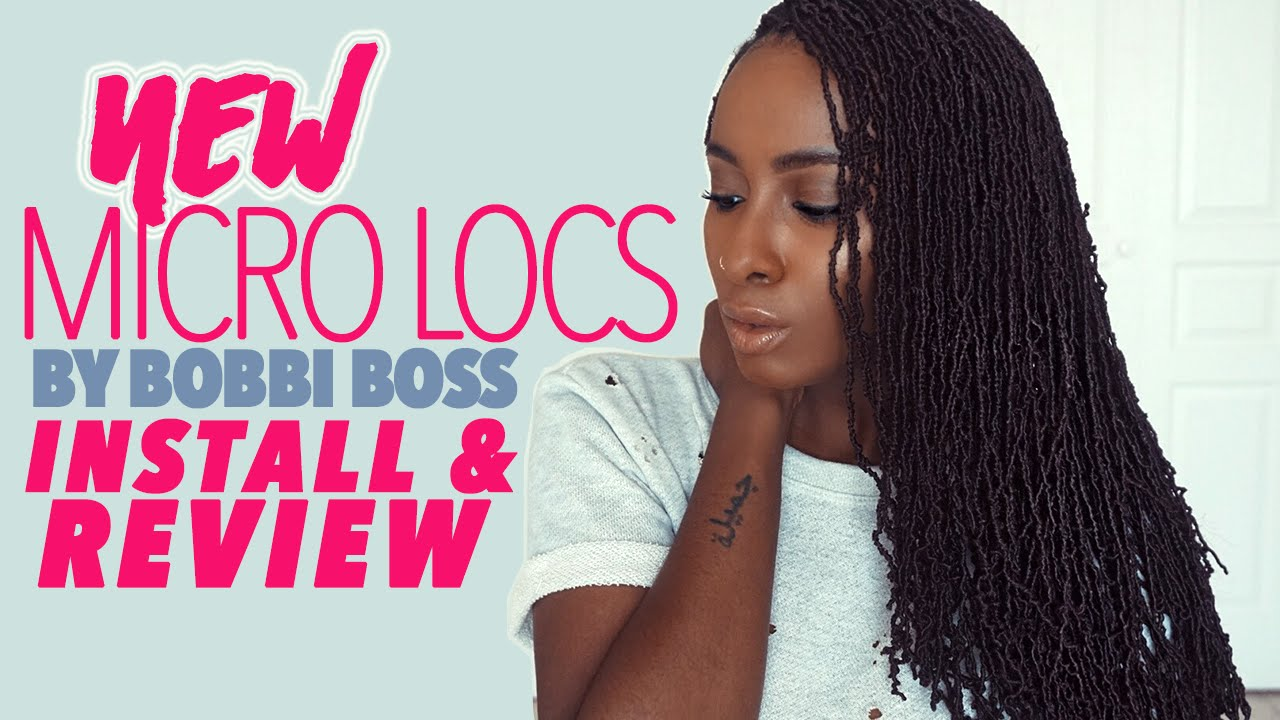 New Bobbi Boss Micro Locs Review Installation Youtube