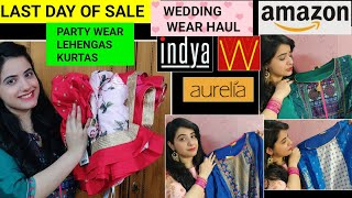 AMAZON KURTA UNDER RS.500|AMAZON LEHENGA|AMAZON KURTI HAUL|AMAZON KURTA PALAZZO HAUL|MYNTRA KURTAS