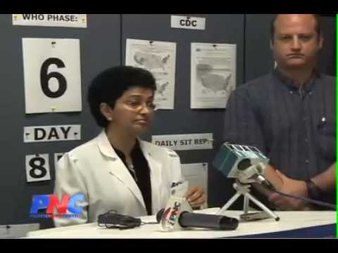 26 year old woman becomes first swine flu victim on Guam.