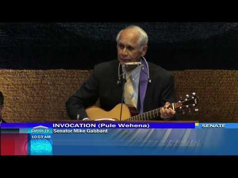 Senator Gabbard Sings Before Session - May 1, 2018