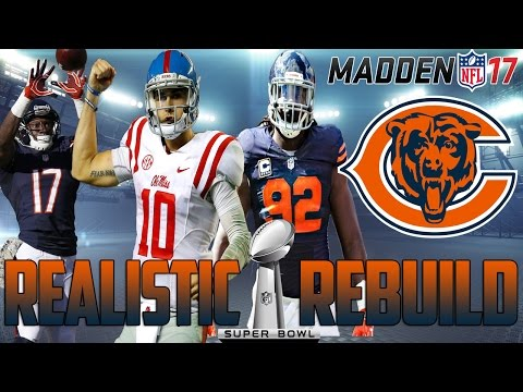 Madden 17 Connected Franchise | Realistic Rebuild: Chicago Bears | Chad Kelly = Gunslinger