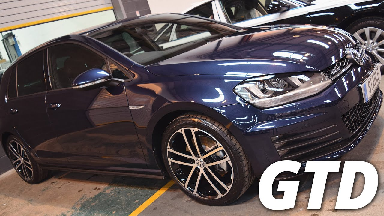 Golf Gtd Lease >> 2016 Volkswagen Golf GTD 2.0 TDI MK7 Night Blue walk around - YouTube