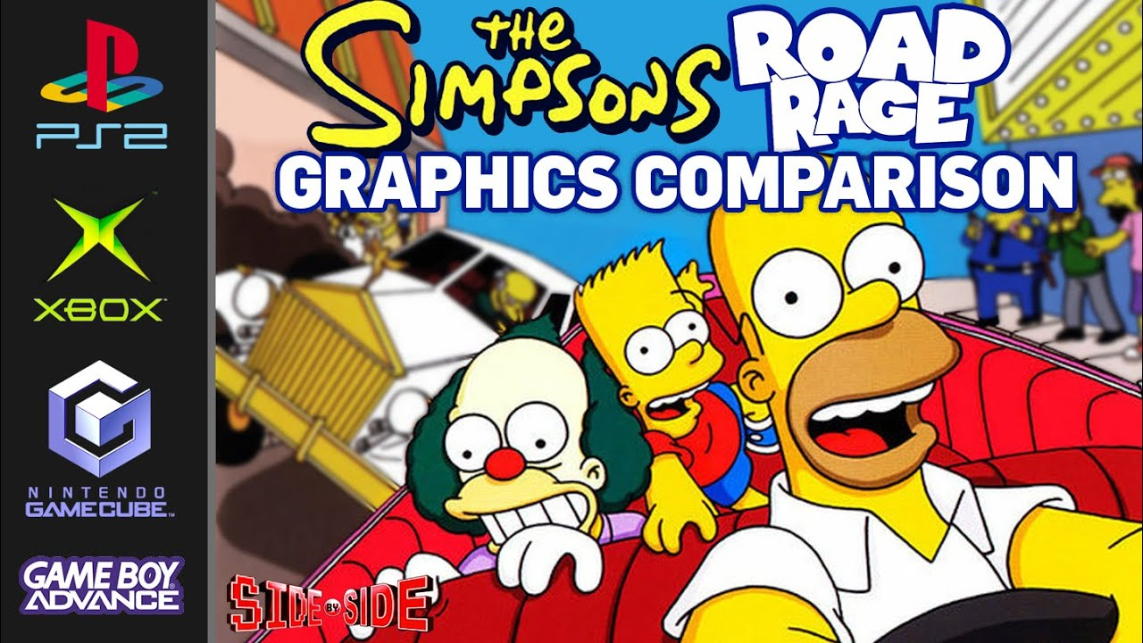 Download Simpsons Road Rage | Graphics Comparison | PS2 Gamecube XBOX Gameboy Advance | Side by Side