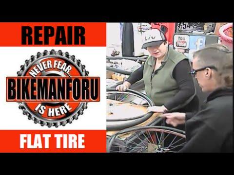 Change A Flat - Tire Challenge - TJ & Baby G Vs BikemanforU - How-To