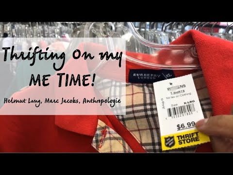 THRIFTING ON MY ME TIME | Helmut Lang, Marc Jacobs, Anthropologie