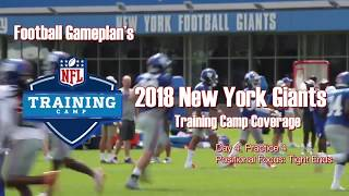 FBGP's 2018 New York Giants Training Camp Coverage: Day 4