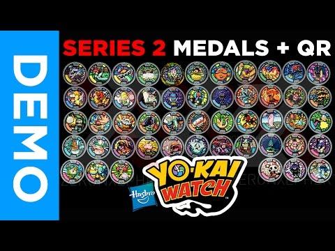 [4K] All SERIES 2 Yo-Kai Medals & QR Codes + GIVEAWAY