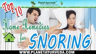 Top 10 Home Remedies for Snoring | Planet Ayurveda