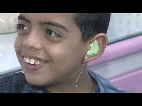 (مشروع تركيب سماعات أذن طبية لضعاف السمع) بتمويل كريم من شركة المثالية/ قطاع غزة_2017