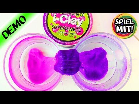 INTELLIGENTE SUPER KNETE Deutsch i-Clay FARBWECHSEL - Knete verändert die Farbe bei Hitze