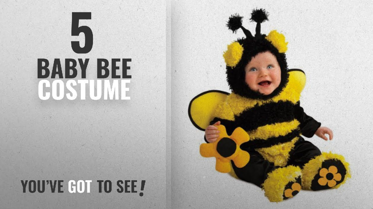 Top 10 Bee Baby Costume [2018] Rubieu0027s Costume Noahu0027s Ark Buzzy Bee Romper Costume Yellow 6-12  sc 1 st  YouTube : bee baby costume  - Germanpascual.Com