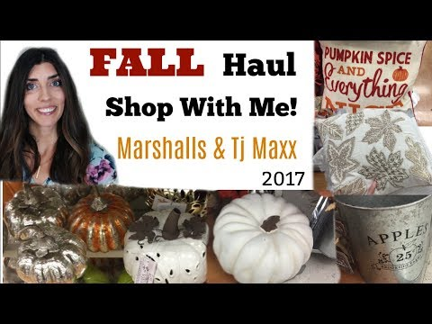 Fall Shop With Me Marshalls & TJMaxx \\ Fall Home Decor 2017