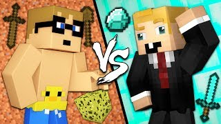 Smart Noob vs. Stupid Pro - Minecraft
