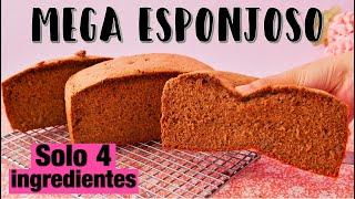Pastel de Chocolate MEGA ESPONJOSO | PASTEL 4 INGREDIENTES | Ale Hervi