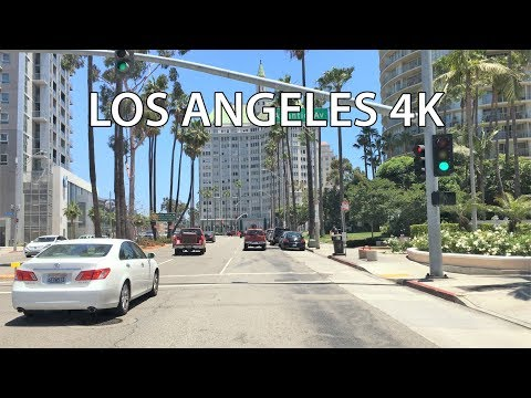 Driving Downtown - Long Beach 4K - Los Angeles USA