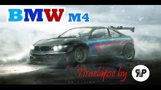 "BMW M4 ""GT-R"" Timelapse by RP. DESIGN [Virtual Tuning]"