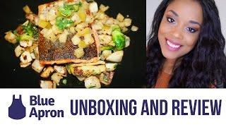 BLUE APRON UNBOXING AND HONEST REVIEW!!
