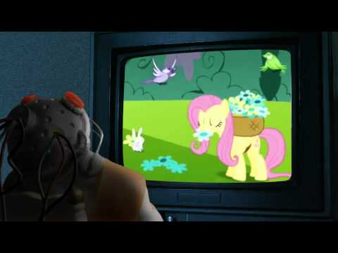 Deadpool Watches Fluttershy Cry Fluttercry Characters Watching