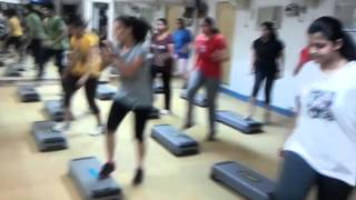 Fat loss workout, weight loss workout, Reebok Step Aerobics class, at Anujacademy Delhi, India  www