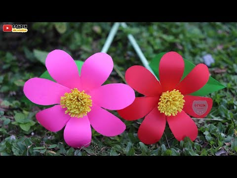 How to Make Beautiful Flower with Paper - Making Paper Flowers Step by Step | DIY Paper Flowers