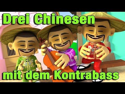 Drei Chinesen mit dem Kontrabass | Kinderlieder zum Mitsingen | Jippiedoo