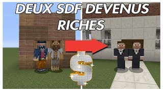 DEUX SDF DEVENUS RICHES : MINECRAFT COURT MÉTRAGE !