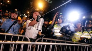 Hong Kong protesters opposing extradition bill clashes with police