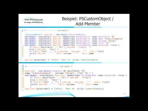 Objektorientiertes Programmieren mit der PowerShell 5.0 (German)  (Holger Schwichtenberg)