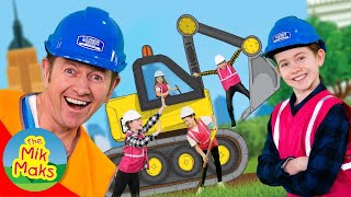Digging Machines | Construction Vehicles Songs and Videos for Kids | The Mik Maks