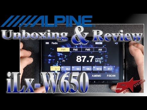 The Unboxing And Review Of The Alpine ILx W650