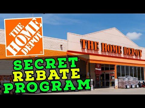 Home Depot's Secret Rebate Program!