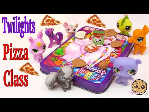 MLP Twilight Sparkle's Playdoh PIZZA Class - My Little Pony LPS Students Shopkins Video Play